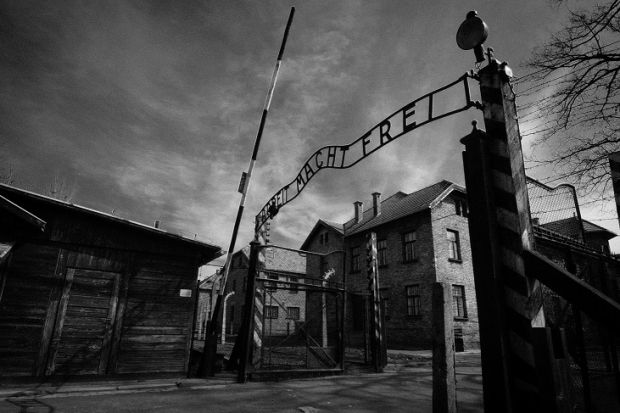 The main gates into Auschwitz with 'Arbeit Macht Frei' (Work Sets You Free) above Photograph: iStock