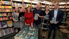 Fiona Gartland with husband Paul and children Rose, Katie, Jeni and Paul jnr at the launch of her book, In the Court's Hands,  in Hodges and Figgis on Dawson Street, Dublin on Friday.  Photograph: Donall Farmer for The Irish Times