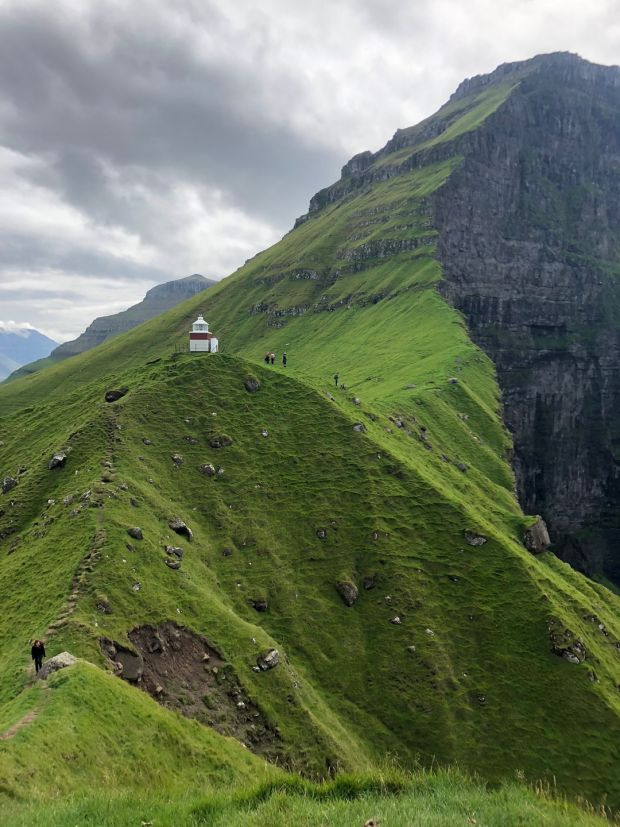 Kallur Lighthouse on Kalsoy, an island in the Faroe Islands. Photograph: Joseph O'Connor