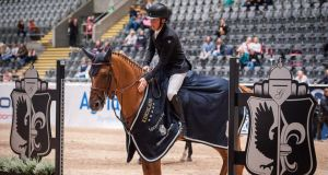 Shane Breen won the 1.50m speed class in Oslo on Friday evening. Photograph: Margie McLoone