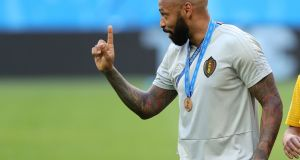 Former Belgium coach Thierry Henry has now taken over at Monaco. Photograph: PA