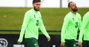 Matt Doherty will make his first Republic of Ireland starts in the National League game against  Denmark. Photograph: Ryan Byrne/Inpho