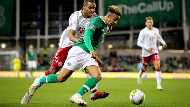 C   allum Robinson delivered a bright cameo as Ireland and Denmark produced a stalemate in Dublin. Photograph: Ryan Byrne/Inpho