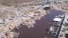 Drone captures aftermath of one of the most powerful storms in US history
