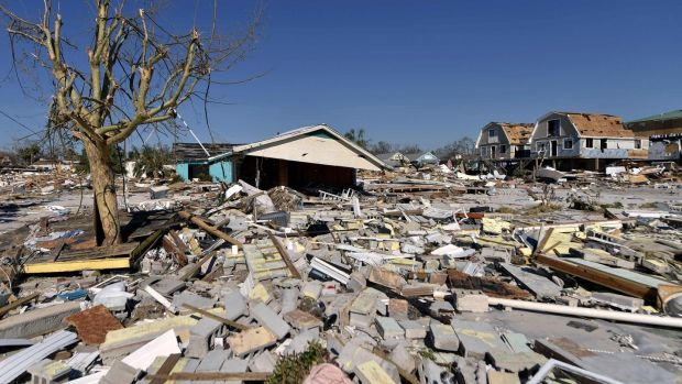 Damage caused by Hurricane Michael in Mexico Beach, Florida. Photograph: Getty Images