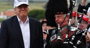 Negative reaction to US President Donald Trump's ownership of Turnberry golf resort is having an adverse effect on  nearby Turnberry Holiday Park,  and might become a rare example of a necessary name change. Photograph: Jeff Mitchell/Getty Images