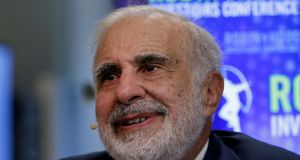 Billionaire activist investor Carl Icahn has his eye on Dell. Photograph: Peter Foley/Bloomberg