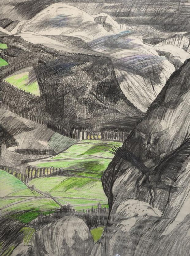 "Jacqueline Stanley's ""Eagles Flying, Glenmalure"" (1980s)"