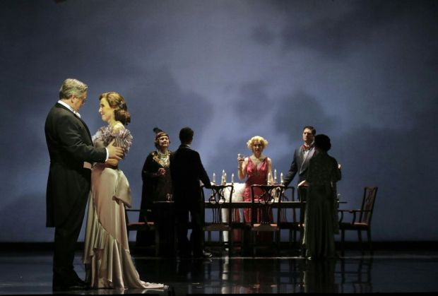 The cast of Dinner at Eight by William Bolcom. Photograph: Cory Weaver