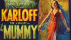 An detail from the original 1932 lithographic film poster designed by Karoly Grosz, for the movie 'The Mummy'
