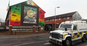 Ardoyne in north Belfast, the setting for Milkman. Photograph: Paul Faith/AFP/Getty Images