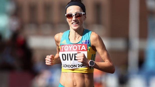 Sinead Diver competes for Australia in the Women's Marathon at the 2017 World Athletics Championships in London. Photograph: Alexander Hassenstein/Getty Images for IAAF