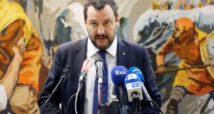 Italy's far-right interior minister, Matteo Salvini. Photograph: Zoubeir Souissi/Reuters