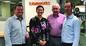 LotusWorks  financial director Gerard Sproule; marketing director Emer Conroy; chief executive Fergal Broder; and human resources director Mark Butler