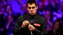"Ronnie O'Sullivan: ""It's such a bad venue, it demotivates you to want to play. This is about as bad as I've ever seen. It's a bit of a hellhole."" Photograph: Justin Setterfield/Getty Images"