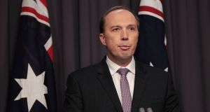 Australia's home affairs minister, Peter Dutton,  said earlier this year that people in Melbourne were 'scared to go out to restaurants' because of 'African gang violence'. Photograph: Stefan Postles/ Getty Images