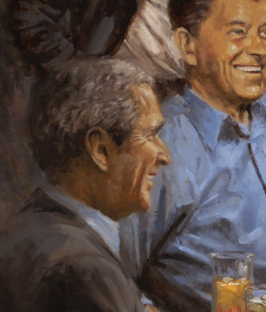 George W Bush in Andy Thomas's painting