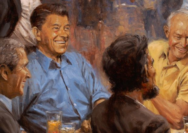 Ronald Reagan in Andy Thomas's painting