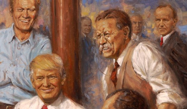 Teddy Roosevelt in Andy Thomas's painting