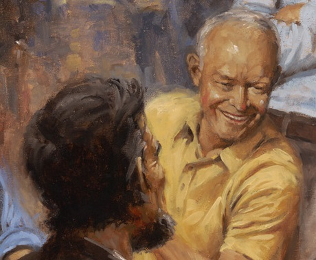 Dwight Eisenhower in Andy Thomas's painting