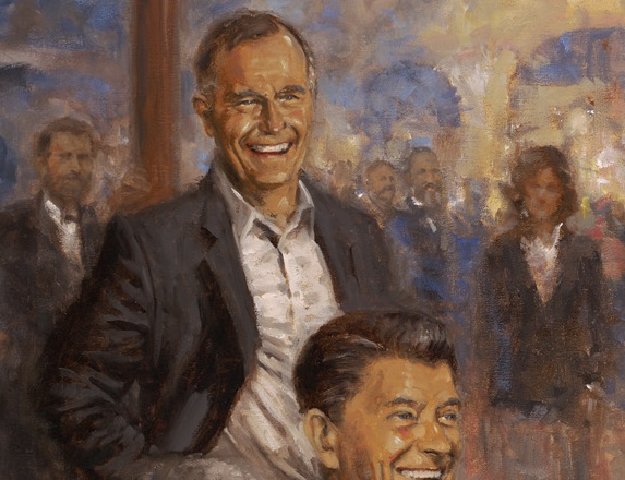 George HW Bush in Andy Thomas's painting