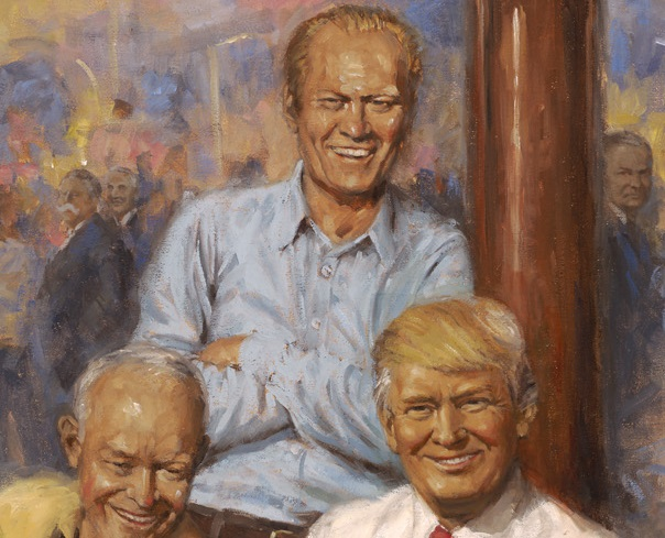 Gerald Ford in Andy Thomas's painting