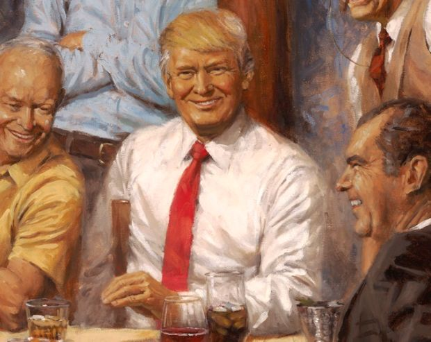 Donald Trump in Andy Thomas's painting