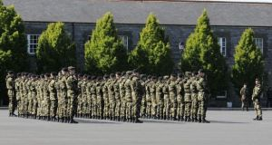 The personnel from the 57th Infantry group had  been due home the first week of October. Photograph: Dave Meehan