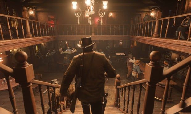 Red Dead Redemption 2: the swing-door saloons are there, but so is an industrialised city