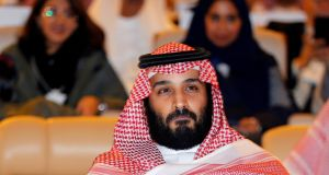 Saudi crown prince Mohammed bin Salman attends the Future Investment Initiative conference in Riyadh in 2017.