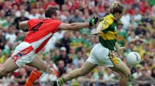 Darran O'Sullivan of Kerry on his way to scoring against Armagh in 2006. Photograph: Andrew Paton/Inpho