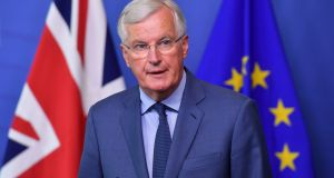 EU chief Brexit negotiator Michel Barnier.  Photograph: Emmanuel Dunand/AFP/Getty Images.