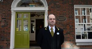 "Buswells Hotel: ""I started out in the kitchen, then worked my way up to the hall,"" concierge Paddy Clerkin says. Photograph: Dara Mac Dónaill"