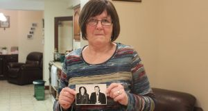 Mary Casey with a photograph of her father, Jack McCann,  who was killed in an IRA attack on a customs post in 1972. Photograph: Simon Carswell