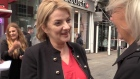 Liadh Ní Riada on the campaign trail in Dublin