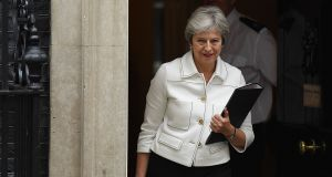 British prime minister Theresa May: The cabinet expressed support for her  approach ahead of Wednesday's summit in Brussels. Photograph: Leon Neal/Getty Images