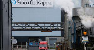 Smurfit Kappa had a strong day on the Iseq, with the paper and packaging company bouncing 3.6 per cent to €29.56. Photograph: Luke Mac Gregor/Bloomberg
