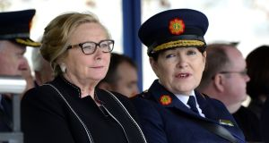 A file image of former minister for justice  Frances Fitzgerald and former Garda commissioner Nóirín O'Sullivan at Templemore Garda College. Photograph: Cyril Byrne/The Irish Times.