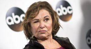 Unhappy: Roseanne Barr has been killed off in the first episode of The Conners. Photograph: Valerie Macon/AFP/Getty