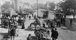 The view from the Royal Hotel: Galway's Eyre Square in 1900.