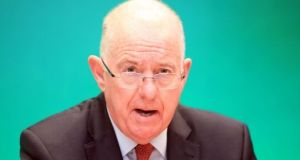 Minister for Justice Charlie Flanagan accused Sinn Féin of abdicating responsibility for getting the Northern Ireland Assembly up and running again. Photograph: Garrett White/Collins