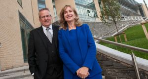 Professor Paddy Nixon, vice-chancellor, Ulster University, with Angela Moore, who made the donation.