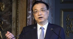 "Chinese premier Li Keqiang: the vaccine scandal is ""vile"". Photograph: Francois Walschaerts/AFP/Getty"