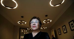 NUCLEAR SURVIVOR: Two survivors of the 1945 Hiroshima bombing will give a joint press-political briefing, drawing on their personal experiences to urge the Oireachtas to ratify the Treaty on the Prohibition of Nuclear Weapons without delay. Pictured in Dublin is Ms Michiko Tsukamoto who was 10 years old at the time of the bombing. She was affected by radiation exposure in the aftermath. Photograph: Nick Bradshaw/The Irish Times