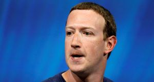 Facebook's founder and chief executive Mark Zuckerberg has about 60% voting power, according to a filing in July. Photograph: Charles Platiau/Reuters