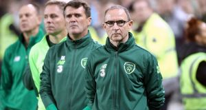 Martin O'Neill and Roy Keane at the Aviva before the Wales game. Photograph: Liam McBurney/PA Wire