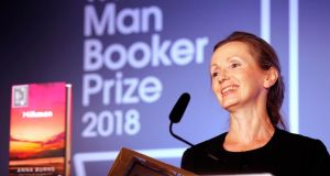 Man Booker winner: Anna Burns thanked a housing charity and  food bank. Photograph: Frank Augstein/Pool/Getty