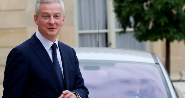 """Enough of talking. Enough words. Enough excuses!"" Mr Le Maire said in an interview with Public Senat TV. Photograph: Reuters"