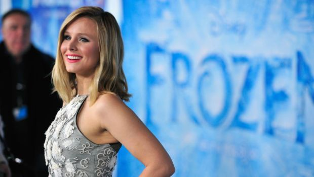 Disney princesses: Kristen Bell, who voices Princess Anna in Frozen, warns her daughters about the themes of Snow White. Photograph: Frazer Harrison/Getty