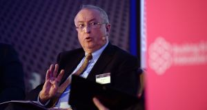 AIB chairman Richard Pym speaking at the Banking & Payments Federation Ireland conference in Dublin. Photograph: Cyril Byrne